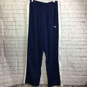 Puma Blue with white lines Sweatpants